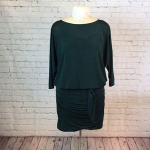 NWT WHBM emerald green dolman slv drop waist dress